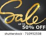 sale banner template design in...   Shutterstock .eps vector #710952538