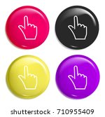 tap multi color glossy badge...