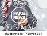 fake news propaganda hoax... | Shutterstock . vector #710956984