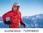 Portrait Of A Happy Male Skier...