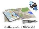 3d illustration of map with... | Shutterstock . vector #710959546