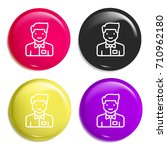 waiter multi color glossy badge ...