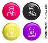 waiter multi color glossy badge ...
