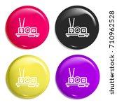 sushi multi color glossy badge...