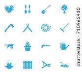 Set Of 16 Farm Icons Set...