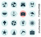 season icons set. collection of ... | Shutterstock .eps vector #710964988