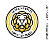 lion head logo modern line... | Shutterstock .eps vector #710970454