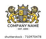 lion heraldry emblem modern... | Shutterstock .eps vector #710970478