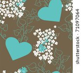 Background With Hearts Pattern...
