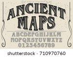 vintage font alphabet... | Shutterstock .eps vector #710970760