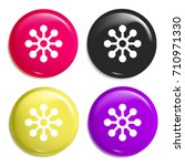 share multi color glossy badge...