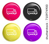 truck multi color glossy badge...