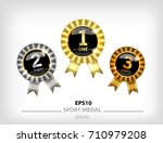 gold  silver and bronze... | Shutterstock .eps vector #710979208
