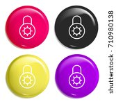 locked multi color glossy badge ...