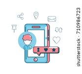 technology social media global... | Shutterstock .eps vector #710986723