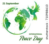 international day of peace.... | Shutterstock .eps vector #710988610
