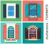 set of detailed various...   Shutterstock .eps vector #710988970