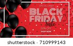 black friday sale promotion ... | Shutterstock .eps vector #710999143