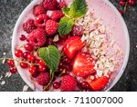 ideas for healthy summer... | Shutterstock . vector #711007000