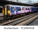Small photo of LEEDS, UK - JULY 12, 2016: Arriva Northern Rail class 150 Sprinter train at Leeds Station in the UK. Leeds railway station was used by 28.8 million annual passengers in 2014/15.