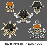 a set of pirated logos. vector... | Shutterstock .eps vector #711014068