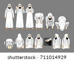 salafy salah prayer  sunni... | Shutterstock .eps vector #711014929