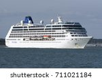 Small photo of Cruise ship Adonia underway on Southampton Water England UK. August 2017
