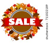 autumn sale banner with fall... | Shutterstock .eps vector #711022189