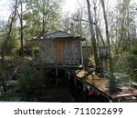 Old Wooden Cottage Deep In The...