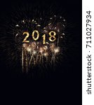 2018 new year background... | Shutterstock . vector #711027934