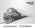 the train consists of dots and... | Shutterstock .eps vector #711028660