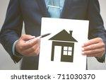 real estate agent. insurance...   Shutterstock . vector #711030370