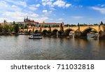 prague  czech republic   june... | Shutterstock . vector #711032818