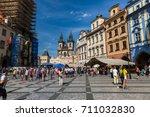 prague  czech republic   june... | Shutterstock . vector #711032830