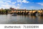 prague  czech republic   june... | Shutterstock . vector #711032854