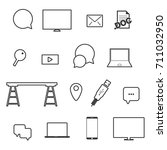 icon set technology... | Shutterstock .eps vector #711032950