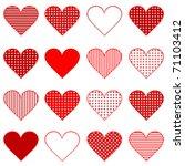 set of hearts | Shutterstock .eps vector #71103412