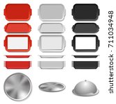 plastic and metal salver | Shutterstock .eps vector #711034948
