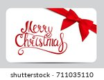 merry christmas and new year... | Shutterstock . vector #711035110