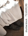 Small photo of Dirty Amish boots - end of a long day