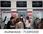 bangkok  thailand   august 21 ... | Shutterstock . vector #711041020