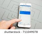 paris  france   sep 26  2016 ... | Shutterstock . vector #711049078