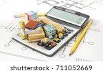 constructions materials on... | Shutterstock . vector #711052669