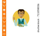 male teacher portrait | Shutterstock .eps vector #711058036
