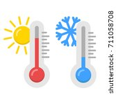 icon of thermometer  weather... | Shutterstock . vector #711058708