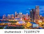 miami  florida  usa downtown... | Shutterstock . vector #711059179