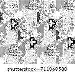 abstract vector geometric... | Shutterstock .eps vector #711060580
