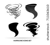 hurricane icons vector set | Shutterstock .eps vector #711063610