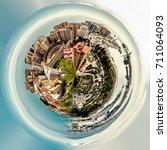 little planet 360 degree sphere.... | Shutterstock . vector #711064093