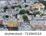 alesund is a port and tourist...   Shutterstock . vector #711064114